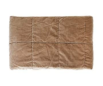 Luxurious Velvet Quilt in Taupe. By Madam Stoltz of Denmark.