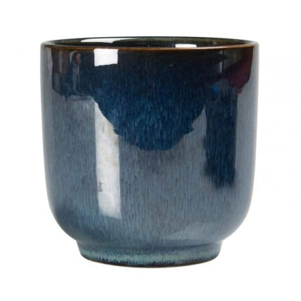 Luxury Jade Blue 'Iris' Cup made from Stoneware By On Interior