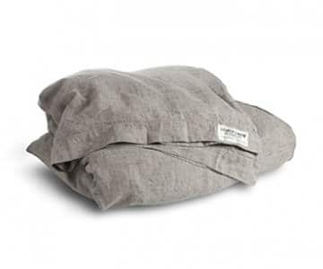 'Misty' Duvet Cover, made from 100% Linen, presented in Chambray Black. Lovely Linen by Kardelen