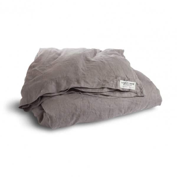 'Misty' Duvet Cover, made from 100% Linen, presented in Grey. Lovely Linen by Kardelen