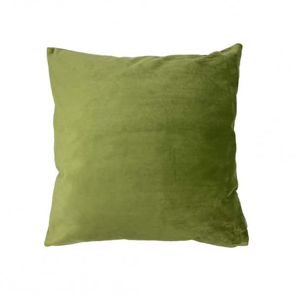 'Moss' Cushion, made from Velvet, with Duck down filling (optional). By Vanilla Fly of Denmark