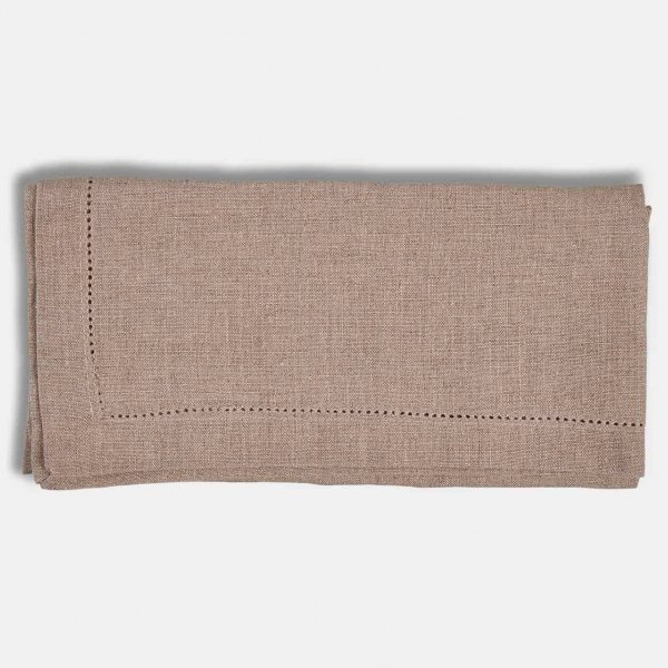 Napkins (S/6), Hemp-Stitched and made from Linen, and presented in Natural (colour). From The Vintage Garden Room