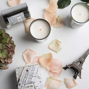 Luxury soy wax 'Maps' candles ByON Interior