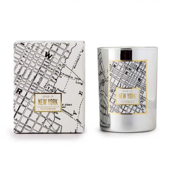 'New York Maps' Scented Candle made from 100% Soy Wax. 'Victorian Candles' ByON of Sweden