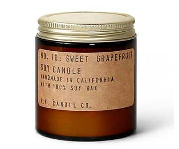 No.10 'Sweet Grapefruit' Mini Soy Wax Scented Candle. By P.F. Candle Co.