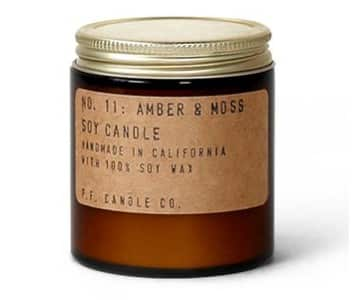 No.11 'Amber & Moss' Mini Soy Wax Scented Candle. By P.F. Candle Co.