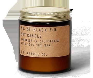 No.28 'Black Fig' Mini Soy Wax Scented Candle. By P.F. Candle Co.