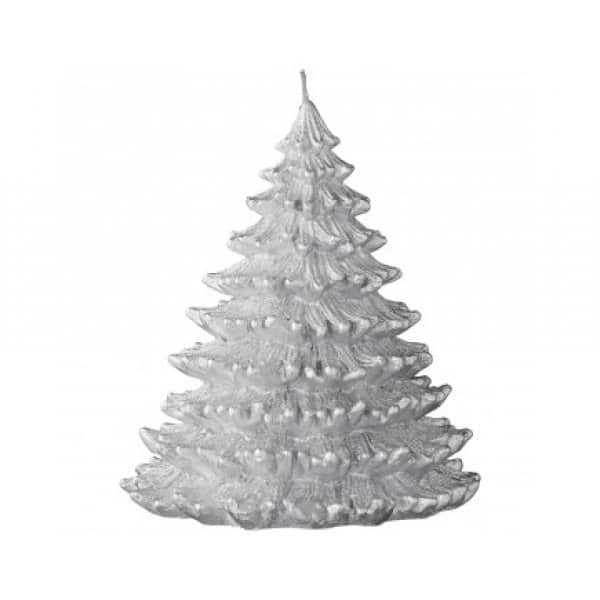 'Nordic' Pine Tree Christmas Candle range, with beautiful detail, finished in Silver. By Lene Bjerre of Denmark