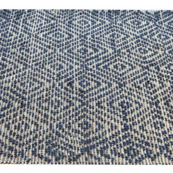 'Novice' Rug, Natural / Blue (160x230cm)