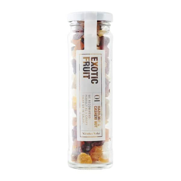 'Nut Mix with Exotic Fruit', beautifully presented in a Jar. By Nicolas Vahé of Denmark