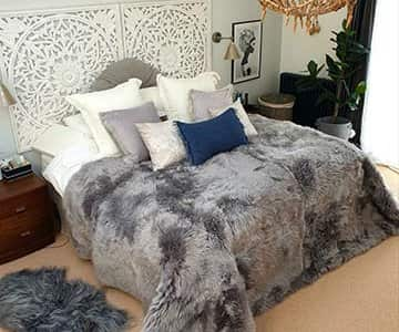 One-off, GIANT, long-haired Sheepskin by Shepherd of Sweden. 45% Off!