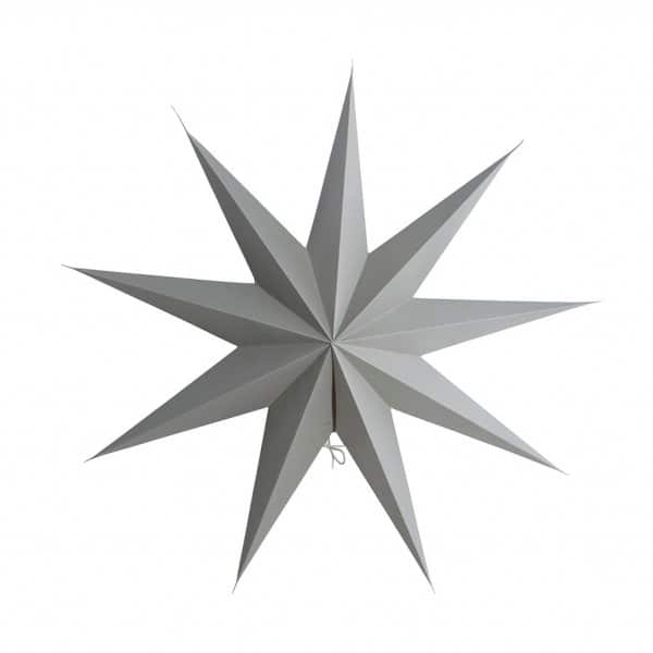 Ornamental Christmas Star, made from Paper and presented in Grey. By House Doctor