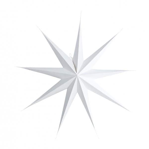 Ornamental Christmas Star, made from Paper and presented in White. By House Doctor