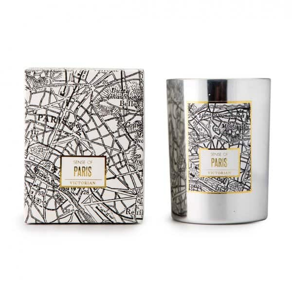'Paris Maps' Scented Candle made from 100% Soy Wax. 'Victorian Candles' ByON of Sweden