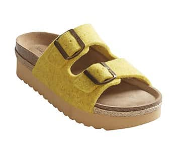 'Patricia' plateau Sandals in Yellow. By Shepherd of Sweden
