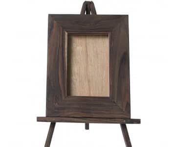 Photo Frame made from Sonokoling Wood (Indonesian Rosewood) with Easel Stand. By PTMD Collection®
