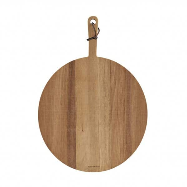 'Pizza' Cutting / Chopping Board, made from Acacia Wood, and presented in its raw colour. By Nicolas Vahé of Denmark
