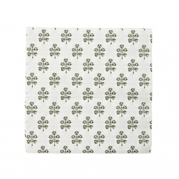 'Plant' Napkins, pack of 40, with a subtle Green pattern. By House Doctor of Denmark