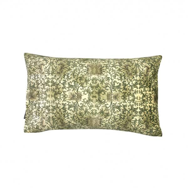 'Pretty Green' Cushion, made from Velvet, with Duck down filling (optional), by Vanilla Fly of Denmark