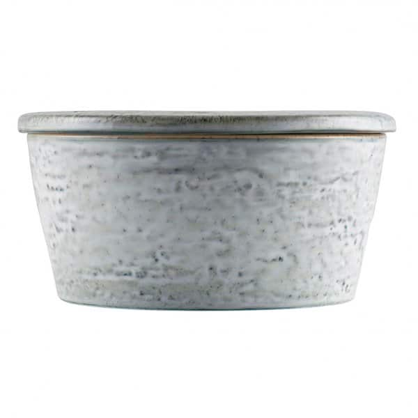 'RAW' Pot with Lid, made from Stoneware, and presented in Grey/Blue. By House Doctor of Denmark