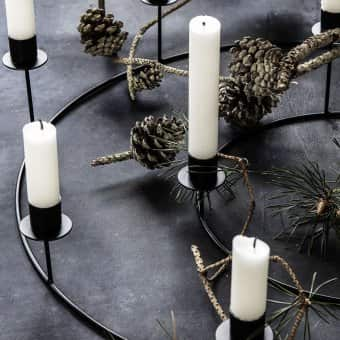 'Ring' Candle Stand range, Iron, Black