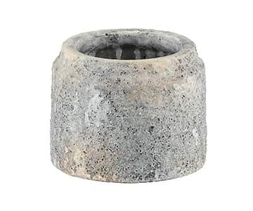 'Ritter' Grey Cement Pot range, Round, with rough surface finish. By PTMD Collection®