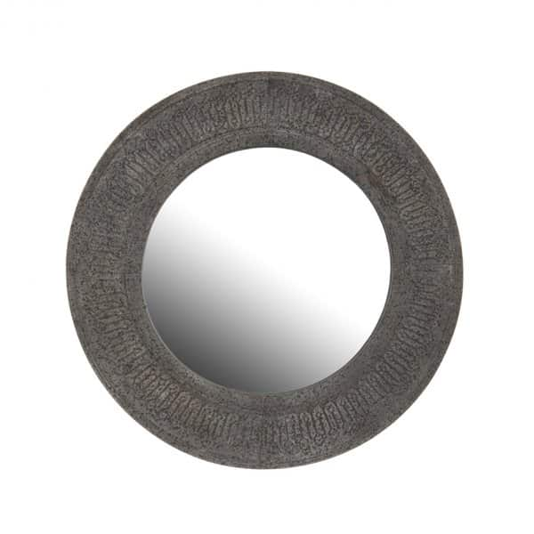 'Ronde' Mirror, Round, with hanging ring. By London Ornaments