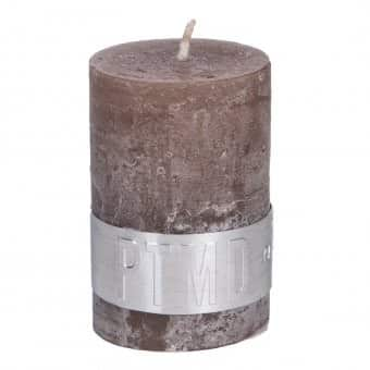 Rustic 'Ambient Brown' unscented Pillar Candle. By PTMD Collection®