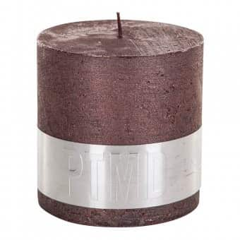 Rustic 'Bronze' Block Candle. By PTMD Collection®