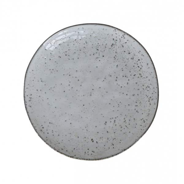 'Rustic' Cake Plate made from Ceramic and presented in Grey/Blue. By House Doctor