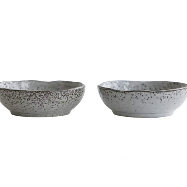 'Rustic' Ceramic Bowl range, in Grey / Blue, finished in a Glaze. By House Doctor of Denmark