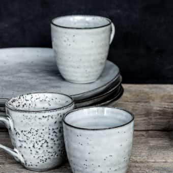 'Rustic' Ceramic Mug, Ceramic, Grey/Blue