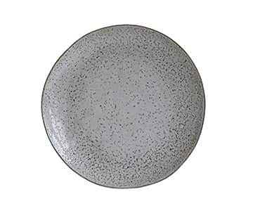 'Rustic' Dinner Plate, handmade from Ceramic, and presented in Grey / Blue. By House Doctor of Denmark