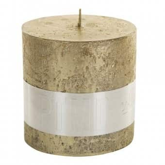Rustic 'Gold' Block Candle. By PTMD Collection®