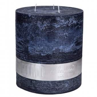 Rustic 'Night Blue' unscented Triple Wick Candle. By PTMD Collection®