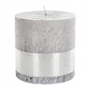 Rustic 'Silver' Block Candle. By PTMD Collection®