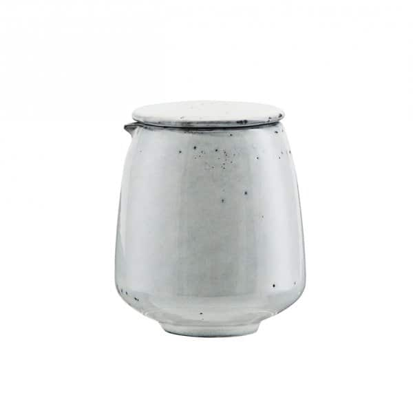 'Rustic' Soy Jug with Lid, made from Ceramic and presented in Grey/Blue. By House Doctor