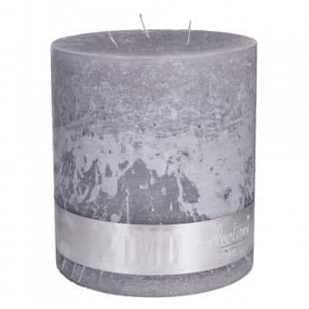 Rustic 'Suede Grey' unscented Triple Wick Candle. By PTMD Collection®