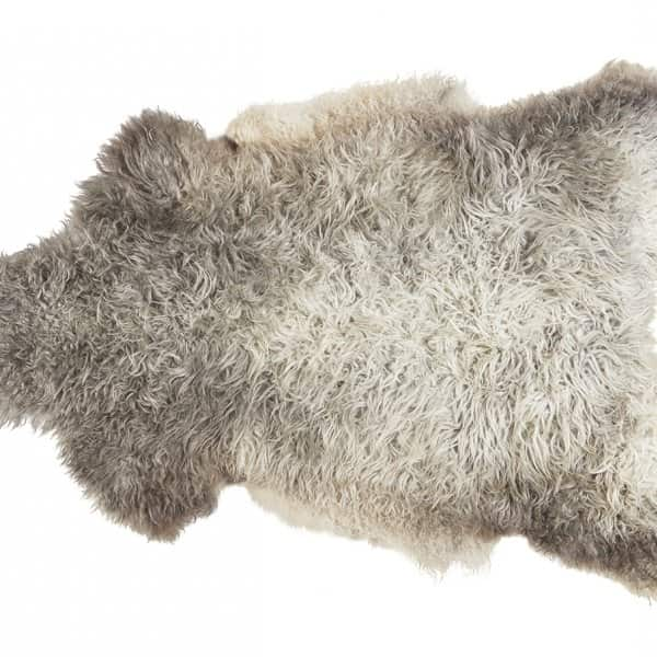 'Sanda' 100% Long-Haired Sheepskin in Natural / Light. By Shepherd of Sweden