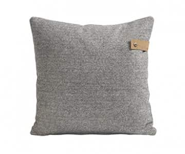 'Sandra' - Wool Cushion in Granite (colour), patterned. By Shepherd of Sweden.