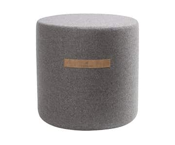 'Sara' - Wool Pouffe, Round, in Granite (colour). By Shepherd of Sweden