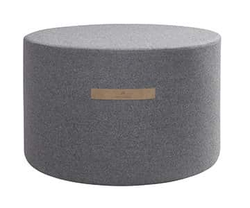 'Sara' - Wool Pouffe, Round, in Granite (colour). By Shepherd of Sweden.