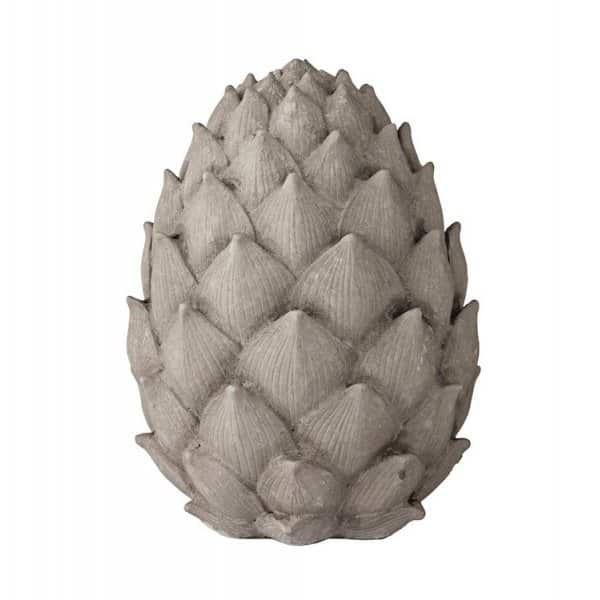 'Serafina' Artichoke, made from Polyresin, and finished in Monument Grey. By Lene Bjerre of Denmark