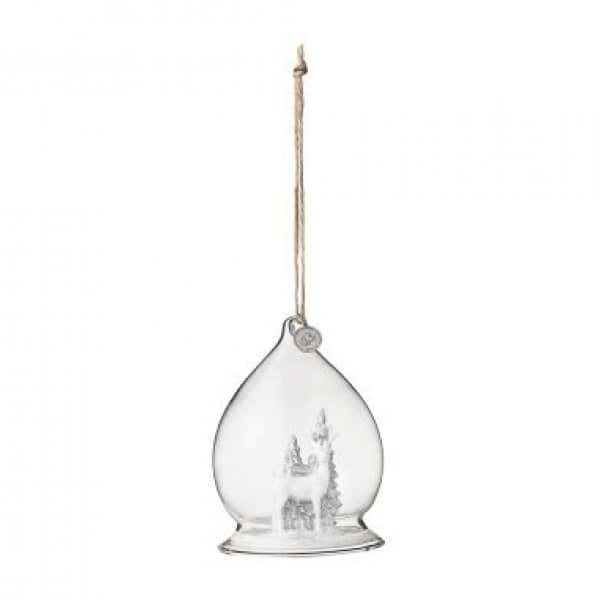 'Sereanna' hanging Christmas Decoration, made from Clear Glass. By Lene Bjerre of Denmark