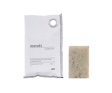 'Sesame Scrub' Hand Soap, beautifully packaged. Meraki by Society of Lifestyle