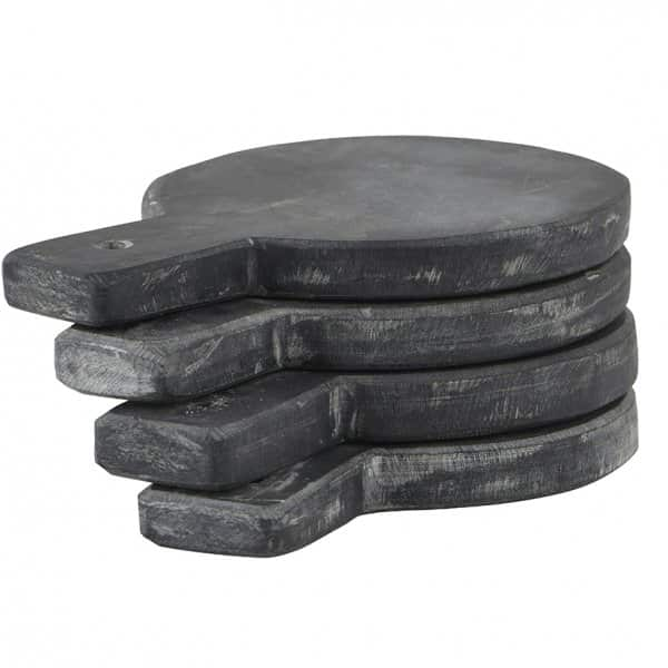 Set of 4 Slate Serving Platters / Coasters by Nicolas Vahé