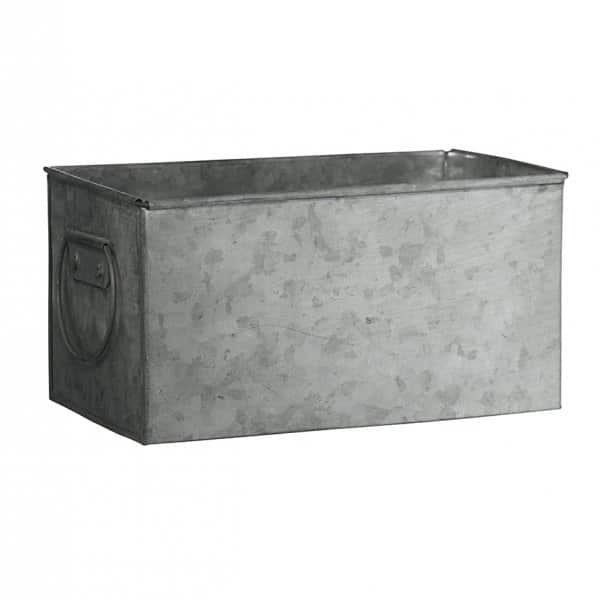 Small Rectangular Planter with Handles in Zinc (colour), made from Iron. By Madam Stoltz of Denmark.