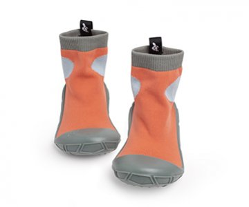 Socks in a Shell: 'Turtl Tots' for kids, in Orange, made for everyday situations children find themselves in. By Turtl