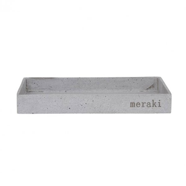 Storage Tray, made from Powdered Stone, presented in Grey and 'Meraki' branded. By Meraki (Society of Lifestyle)