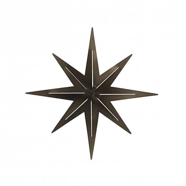 'Stretch' Ornamental Christmas Star, made from Iron, presented in Gunmetal (colour). By House Doctor
